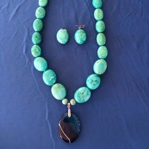 Turquoise large necklace